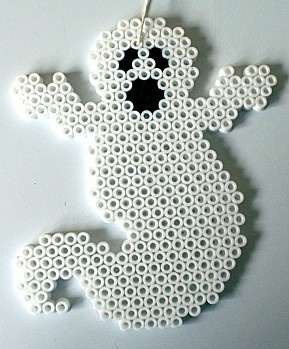 créer un fantôme avec des perles à repasser #halloween
