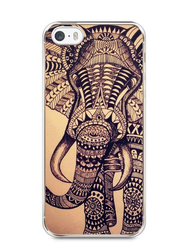Capa Iphone 5/S Elefante Tribal - SmartCases - Acessórios para celulares e tablets :)