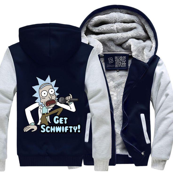 Holen Sie sich Schwifty, Rick und Morty Fleecejacke