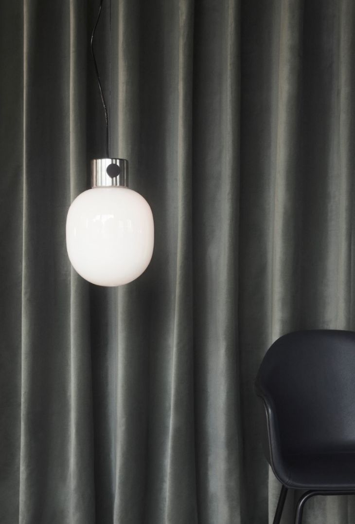 MENU | JWDA Pendant in Brushed Steel by Jonas Wagell, Shot by Claus Troelsgaard