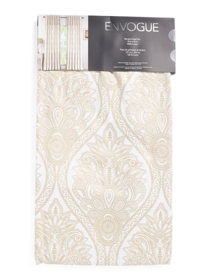 50x96 Set Of 2 Chantal Damask Curtains