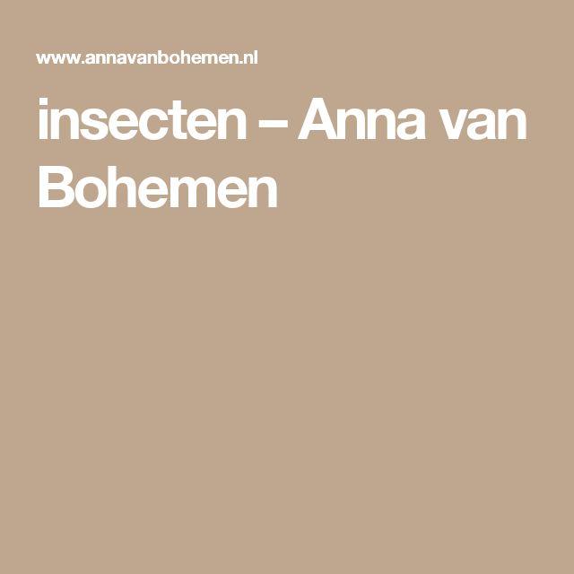insecten – Anna van Bohemen