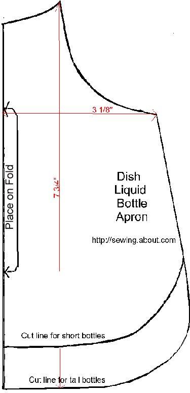 Dish Liquid Apron Pattern