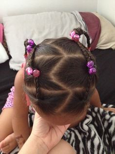 Cute everyday hairstyle for mixed toddler