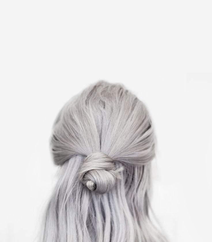 grey hair, half bun.  from http://bon.se/blogs/frida-vega-salomonsson/