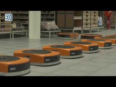 Así funcionan los robots que Amazon utilizará en sus centros logísticos - YouTube