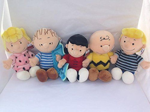 Peanuts Charlie Brown Snoopy Characters Set of 5 Include Schroeder Lucy Sally Linus and Charlie B @ niftywarehouse.com #NiftyWarehouse #Peanuts #CharlieBrown #Comics #Gifts #Products