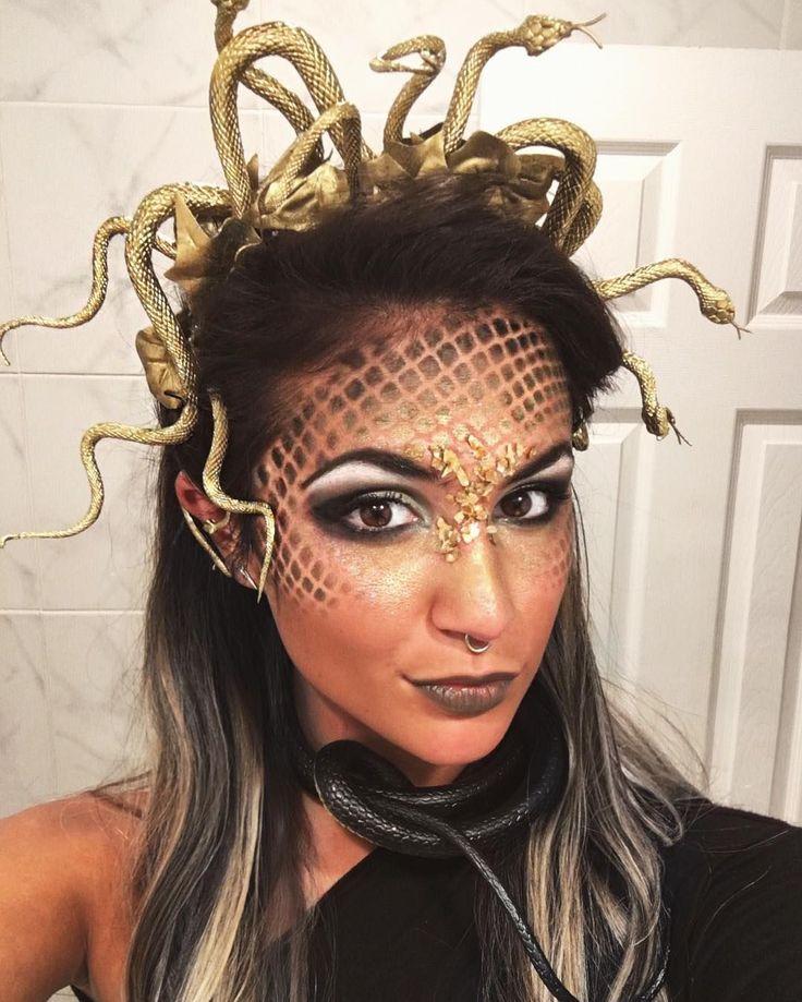 Medusa Kostüm selber machen #halloweencostumes In…