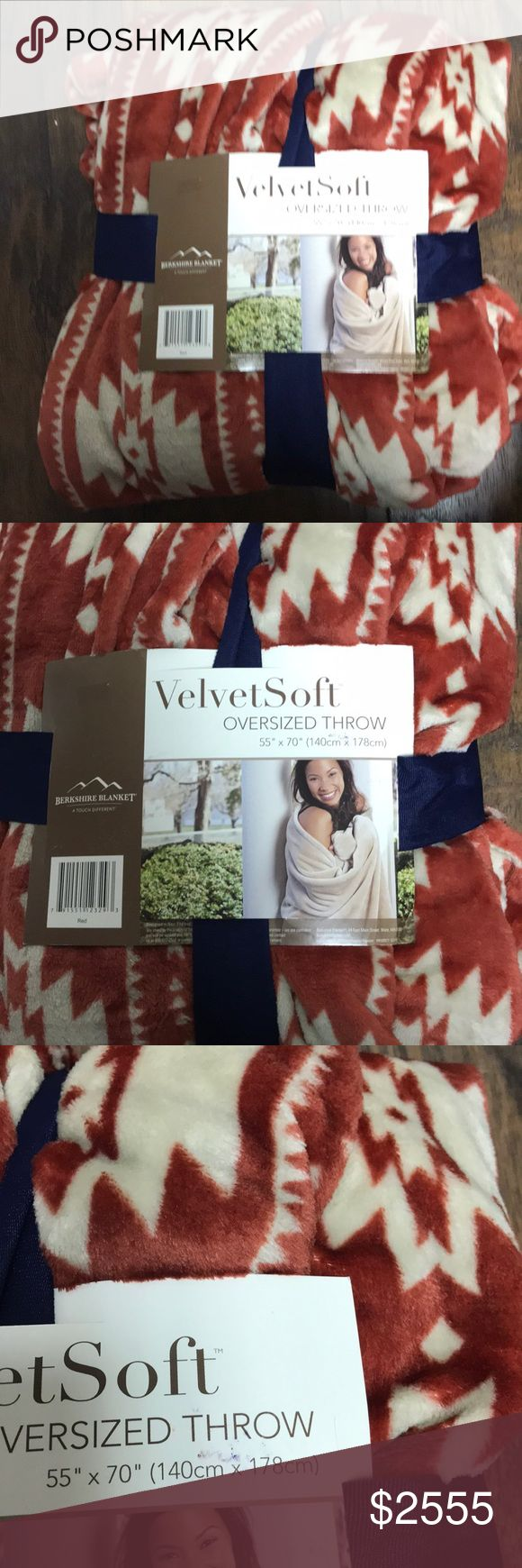 "Berkshire blanket throw - new Velvet soft oversized three 55"" x 70"" berkshire blanket Accessories"