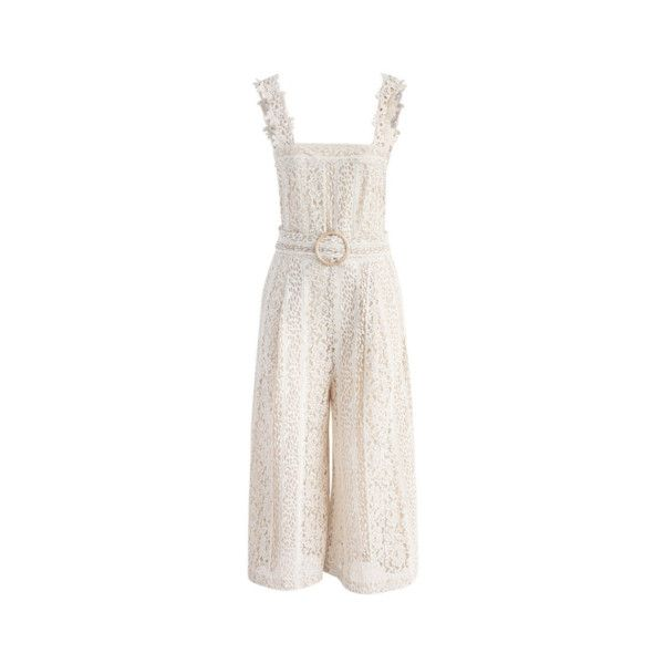 First Impression Overalls (€105) found on Polyvore featuring women's fashion, jumpsuits, bib overalls, white jumpsuit, overalls jumpsuit, white bib overalls and white overalls