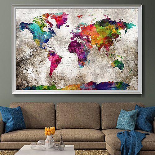 Mejores 39 imgenes de amazon world map en pinterest mapas del presione mapa viajes de pin impresin del arte de la pared gumiabroncs Image collections