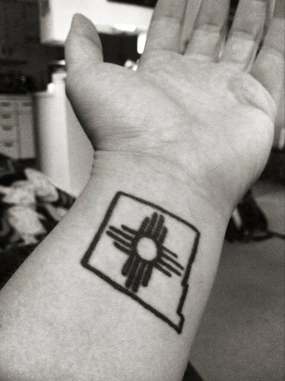 My Zia Sun Tattoo....New Mexican for life! New Mexico Tattoo #zia #newmexico #tattoo