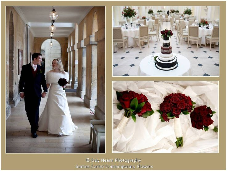 An elegant deep red winter wedding held in the Orangery at Blenheim Palace