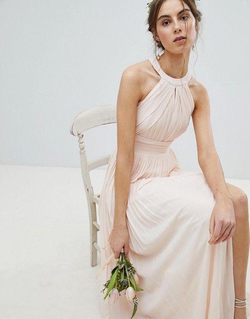 eaababcb59ec TFNC Tall Pleated Maxi Bridesmaid Dress in 2019 | Bridesmaid Looks ...