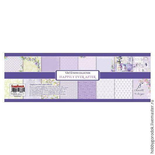 Купить Набор бумаги для скрапбукинга Счастливый день - сиреневый, бумага, бумага для скрапбукинга, бумага для открыток