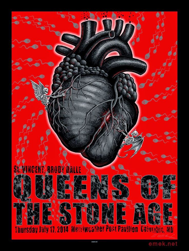 Queens of the Stone Age Columbia Poster by Emek