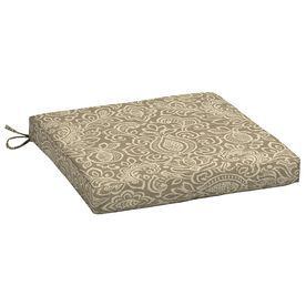 Garden Treasures Neutral Stencil Neutral Stencil Paisley Seat Pad For