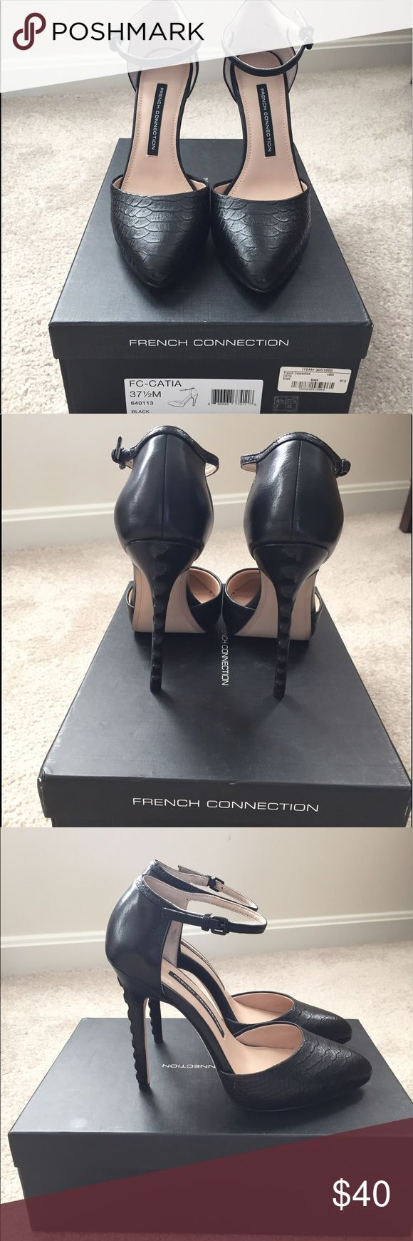 French Connection Ankle Strap Pumps Sexy black French Connection shoes. Brand new in box! French Connection Shoes Heels