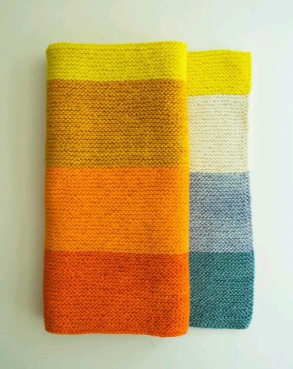 Easy knit baby blanket. Free pattern - purlbee
