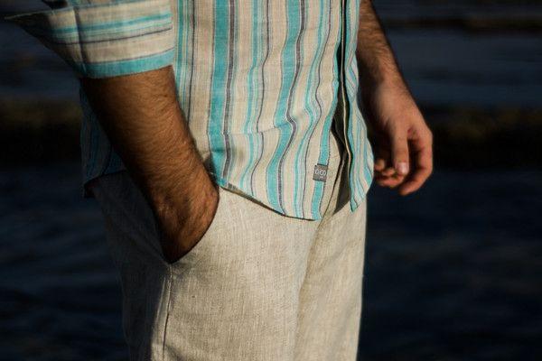 IO/CO designer linen shirt. $129