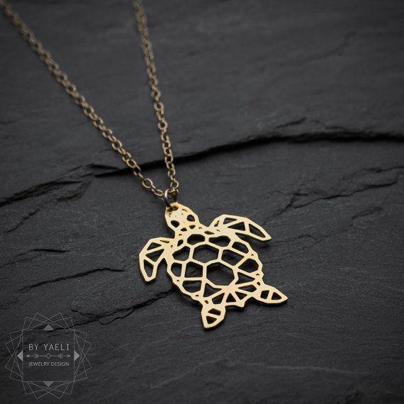 Sea turtle necklace turtle necklace sea necklace by ByYaeli