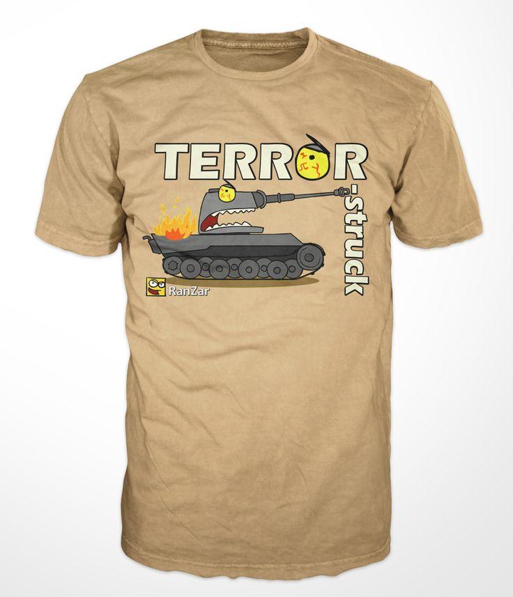 Terror-struck on german tank on RanZar shirt
