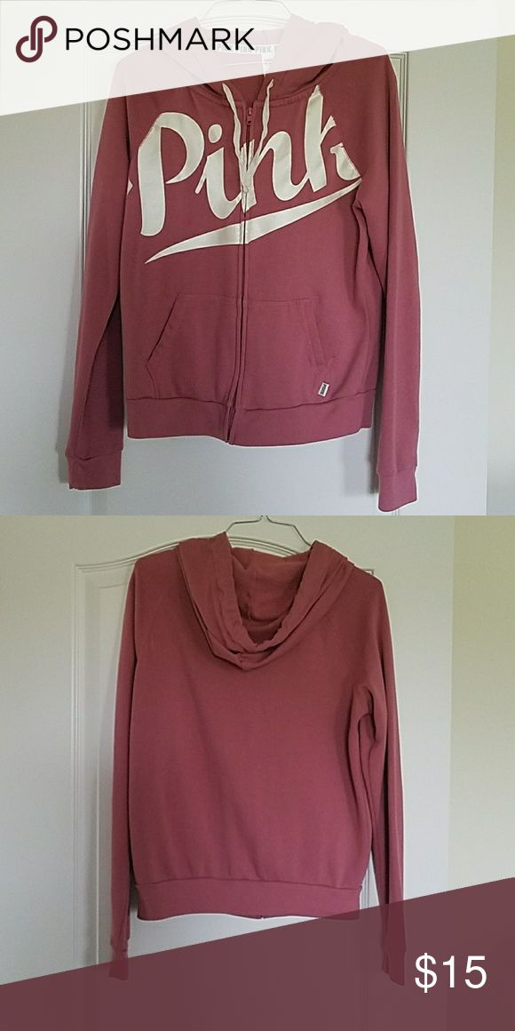 Victoria's Secret Pink zip up hoodie Victoria's Secret Pink zip up hoodie. Size Medium. Worn only two or three times. Great condition! PINK Victoria's Secret Tops