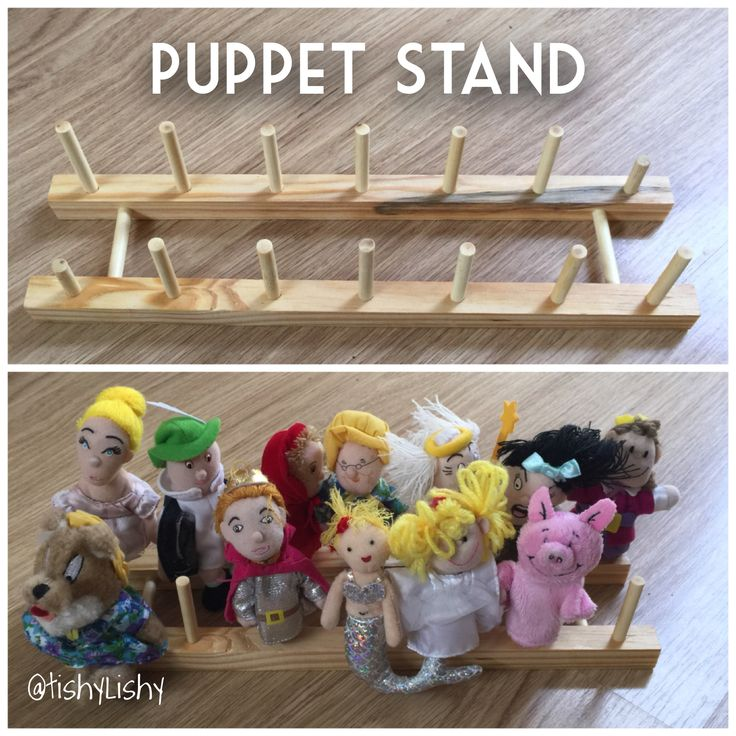 Puppet Stand using a cheap plate rack