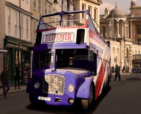 Street Trucks - Autobús de dos pisos descapotable Bristol 1960