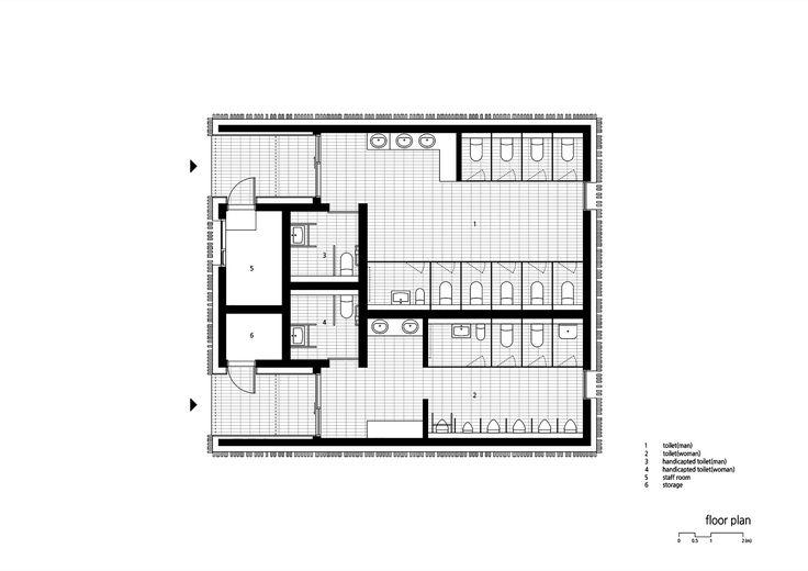 Imagen 14 de 16 de la galería de Calmness Toilet / METAA. Planta de piso