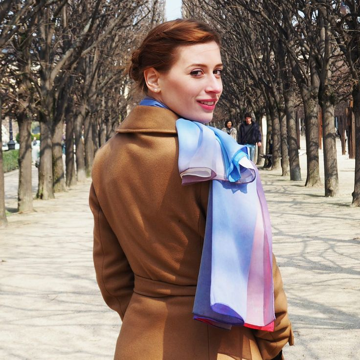 Luxury Silk Art Scarves By Phillip Ayers Paris Shoot Fashion Accessory How to tie a scarf Silk Chiffon Silk Twill Silk Modal Taillights at Night