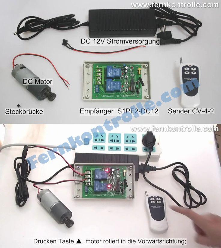 Funkfernsteuerung eines Hochleistung-Umkehrmotor in Vorwärts- und Rückwärtsrichtung