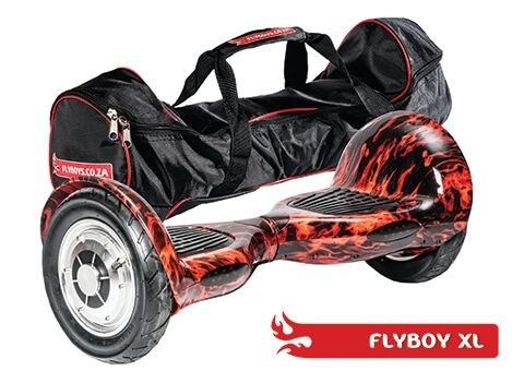 FlyboyXL in Flames. Get it in a bag! This model has more GO than the other models. With it's larger, inflatable wheels, it can go where the others can't. Visit www.flyboys.co.za for more specs on this model and more