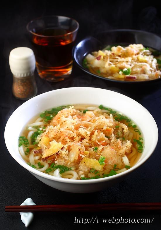 Japanese food / かき揚げうどん