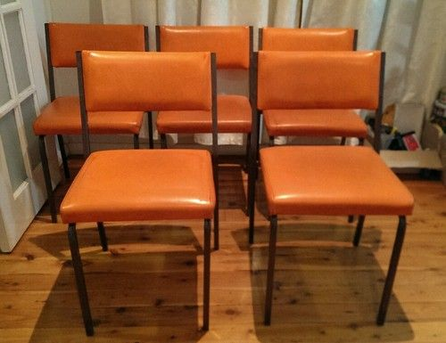 5 Retro Pongrass Orange Chairs Deceased Estate in Sydney, NSW