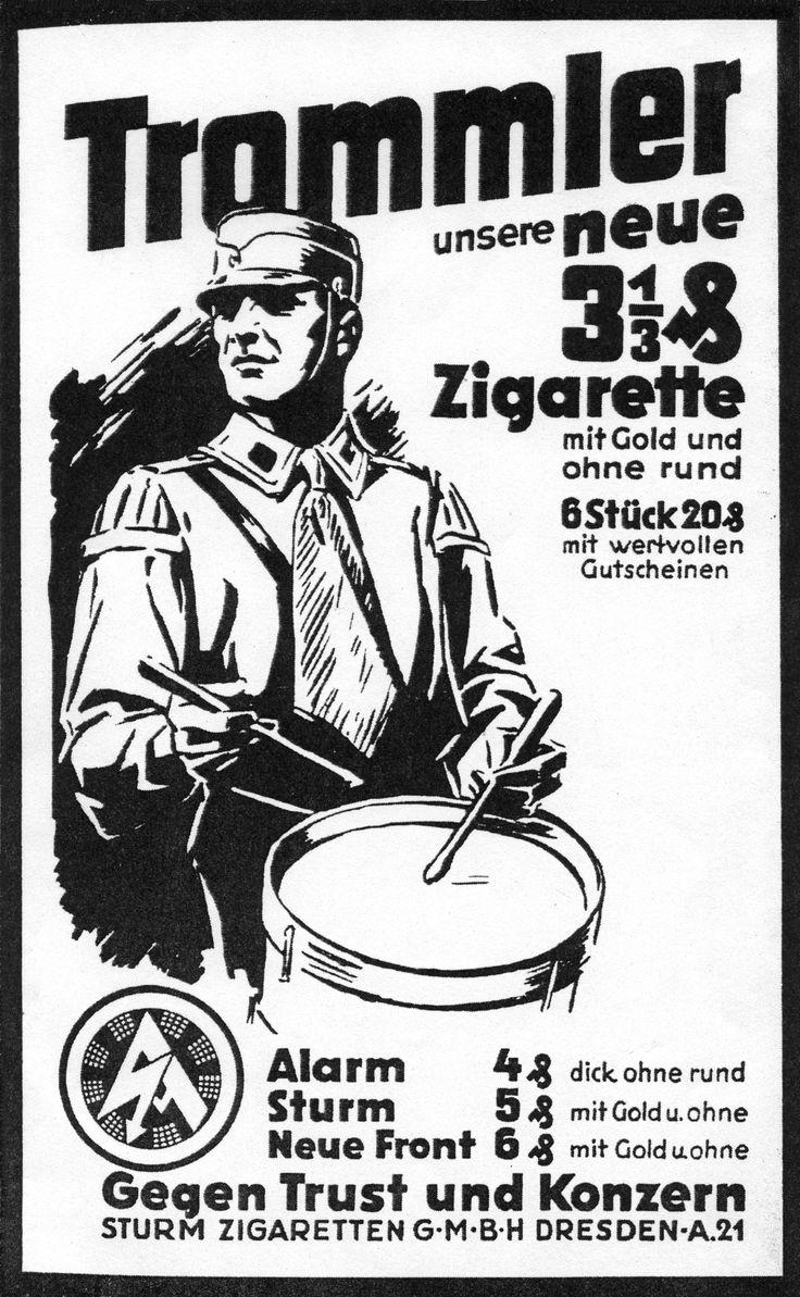 Trommler zigarette, SA propaganda
