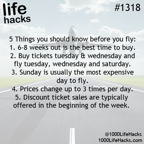 1000 Life Hacks tips for buying an airline ticket for the best and cheapest price