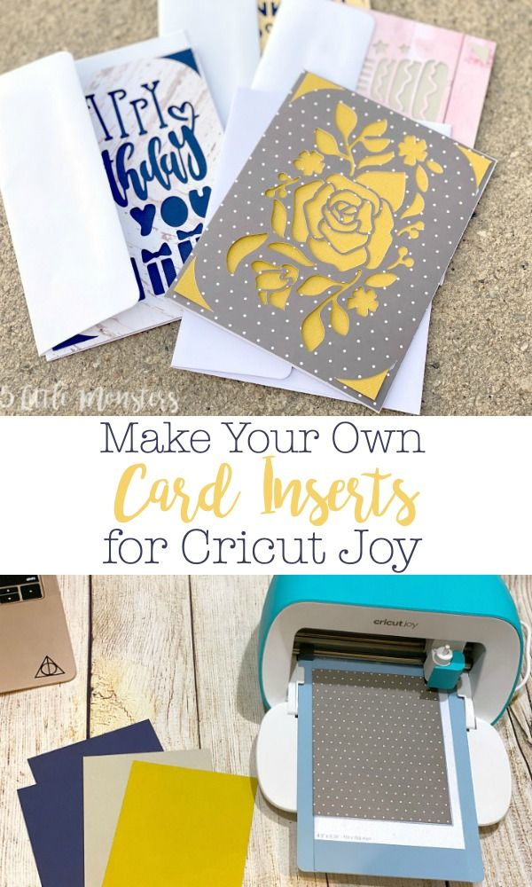 Make Your Own Card Inserts For Cricut Joy Make Your Own Card Joy Cards Diy Craft Projects