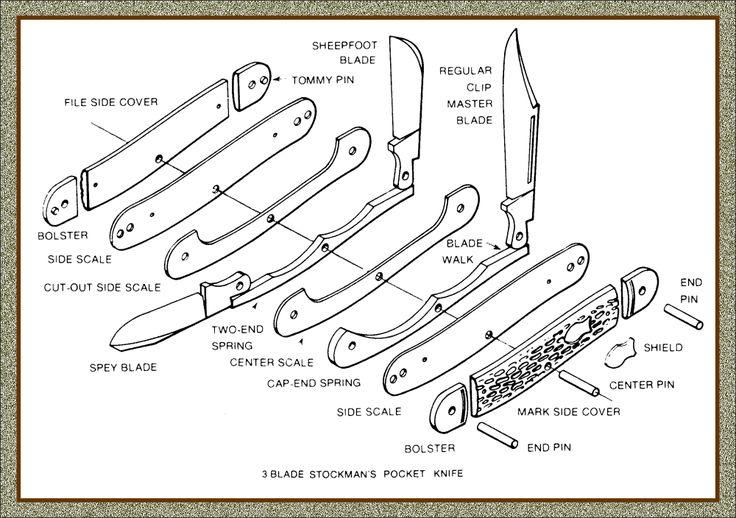 Pocket Knives Anatomy Of A Pocket Knife Resources