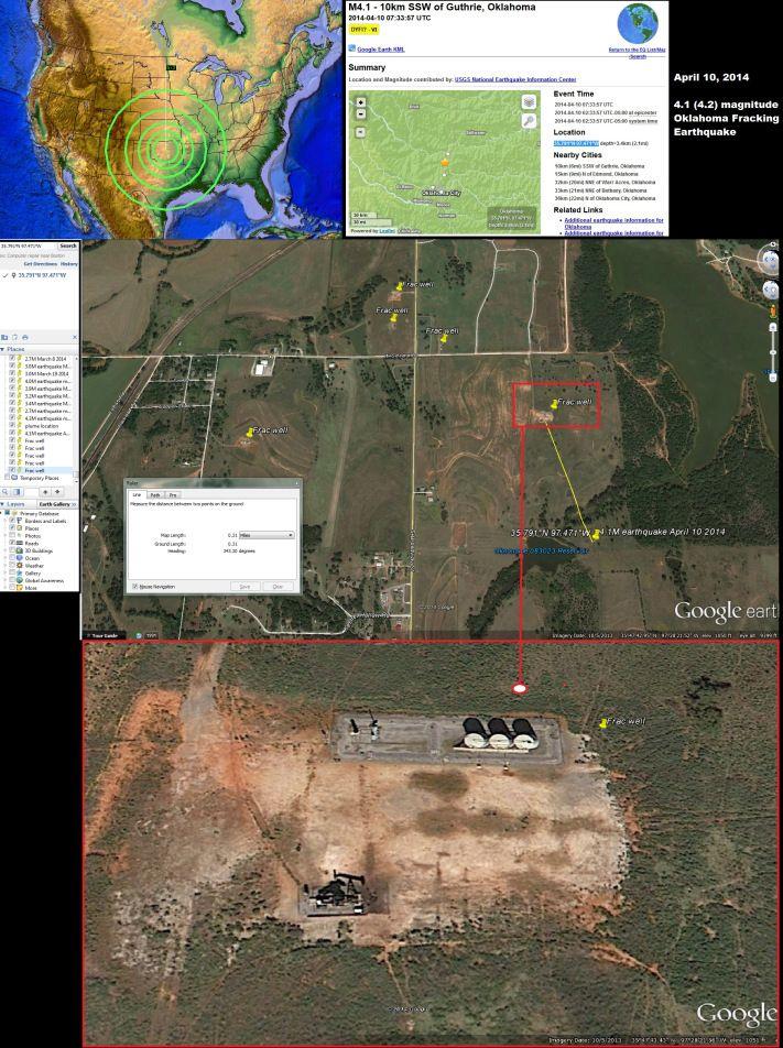 April 2014 The Oklahoma fracking earthquake swarm
