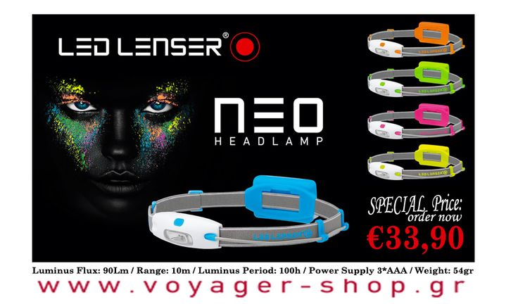 The LED LENSER® NEO is an amazingly innovative headlamp with an extremely low weight and great brightness. It is, thanks to the cool NEON color concept, a real trend setter, a fun tool and lives up to current sport fashions.The compact and light design makes the LED LENSER® NEO a companion that can accompany you at all times and 2. to all places. Order Now: http://www.voyager-shop.gr/en-gb/Products.aspx?SearchFor=neo
