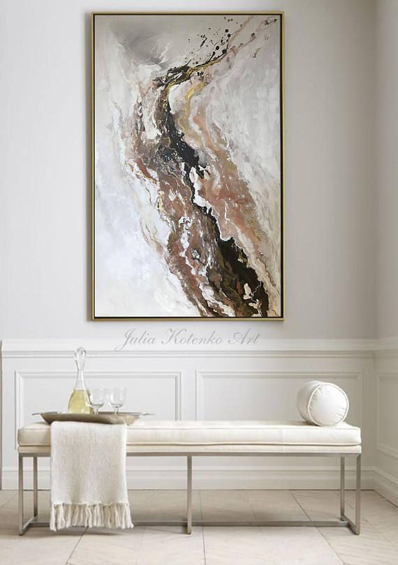Abstract Large Wall Art Original Oil Painting Living Room Wall