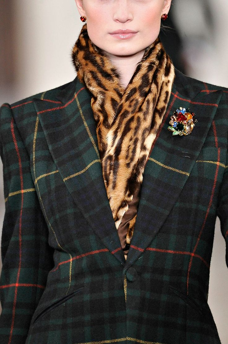 Ralph Lauren Fall 2012 - never thought of adding animal print with plaid before - but, this works