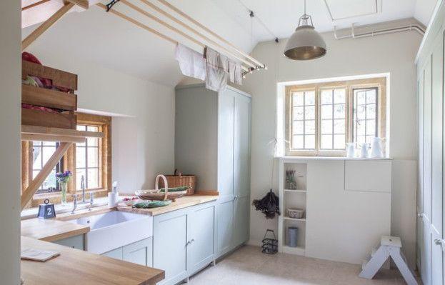 Laundry room  in light blue - Gabriel Holland Interior Design