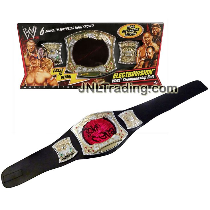 Mattel Year 2010 World Wrestling Entertainment WWE ELECTROVISION CHAMPIONSHIP SPINNER BELT with 6 Animated Superstar Light Shows and Entrance Music