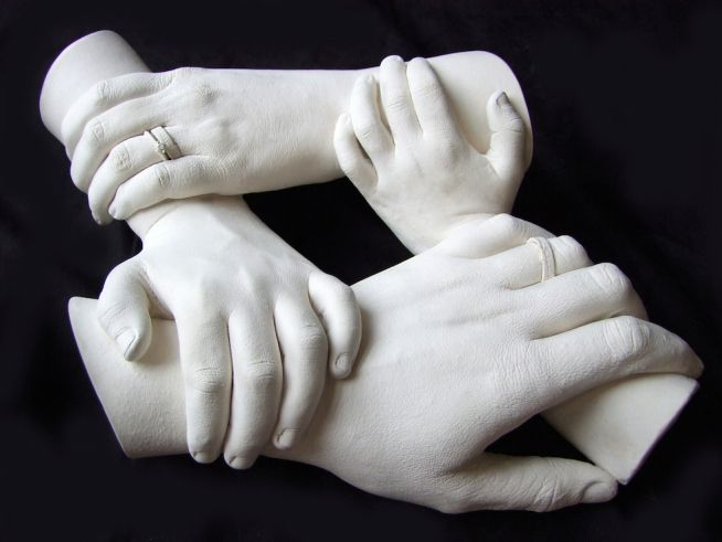 Family Hand Casting of four look for youtube video