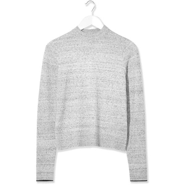 Space-Dye Jumper by Boutique ($36) ❤ liked on Polyvore featuring tops, sweaters, clothes - outerwear, grey marl, jumper top, topshop sweater, gray sweaters, topshop tops and grey high neck top