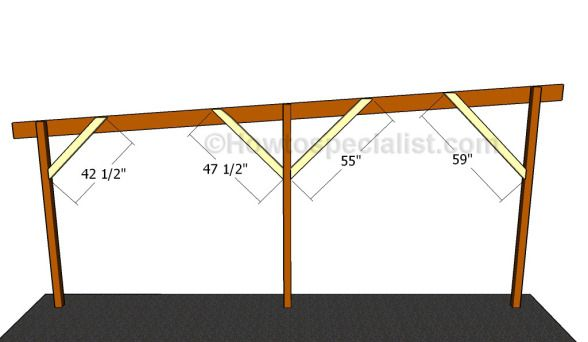 Flat Roof Double Carport Plans Howtospecialist How To Build Step By Step Diy Plans In 2020 Carport Plans Double Carport Carport