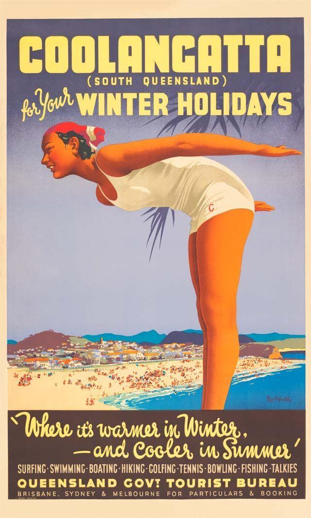 Vintage Poster Love - Coolangatta by James Northfield - http://www.australianvintageposters.com.au/shop/coolangatta-by-james-northfield/