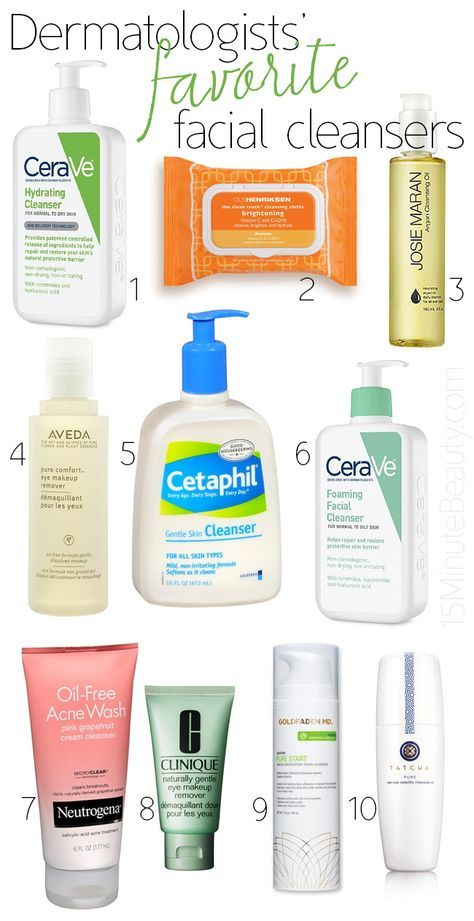 Dermatologist's Favorite Facial Cleansers via @15 Minute Beauty